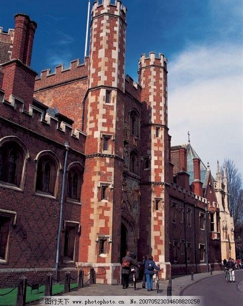 红砖建筑物 欧洲建筑 自然景观 风景名胜 世界名胜 摄影图 300dpi