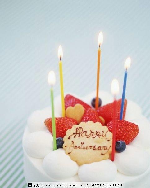 做生日蛋糕点蜡烛的动画