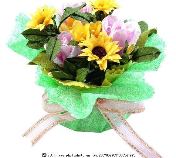 花束鲜花 一束花 生活百科 生活家居用品 包装礼盒 摄影图