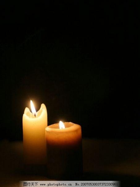 燃烧的蜡烛 光明 灯火 火焰 爱心 蜡烛 生活百科 生活家居用品 烛光