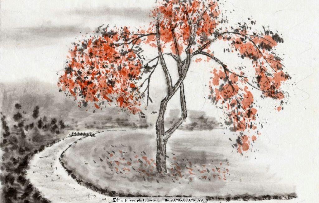 绘画素材图片,文化 艺术 美术 书法 山水画 水墨画-图