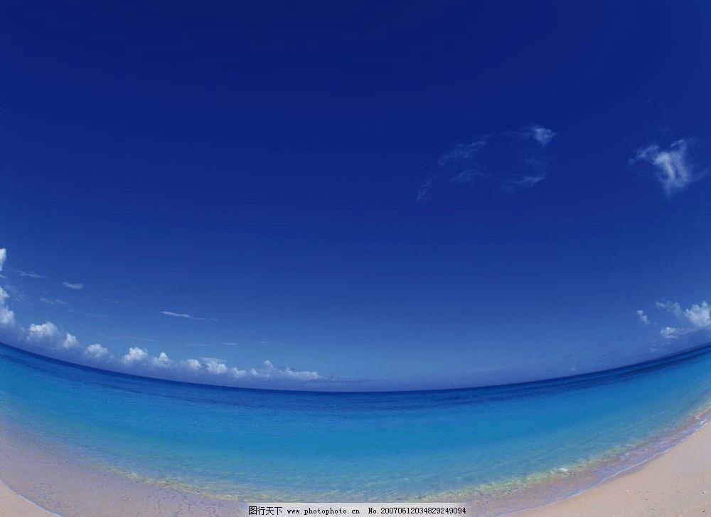 清澈的海水 大海 蓝天 蓝色天空 自然景观 自然风景 海滩海浪 摄影