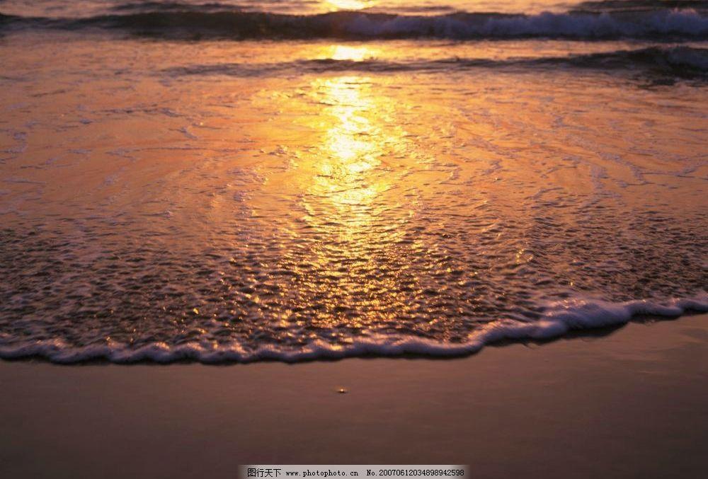 海边黄昏美景 海滩 大海 晚霞 傍晚 自然景观 自然风景 海滩海浪 摄影