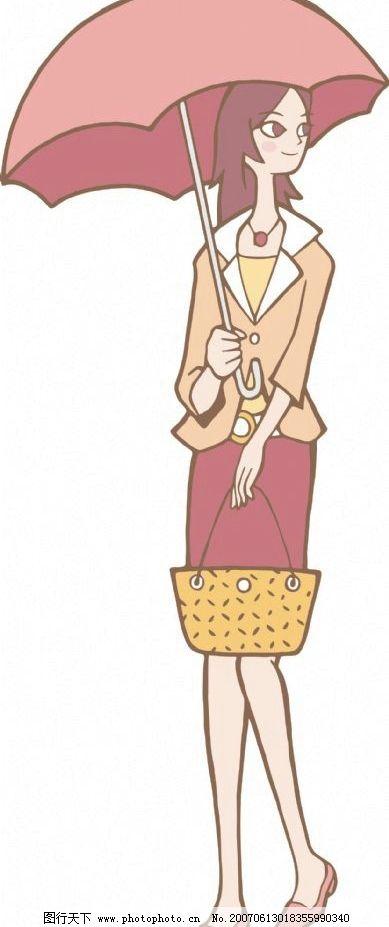 卡通女性 卡通 动谩 人物 女人 女性 女士 美女卡通人物 设计图库 350