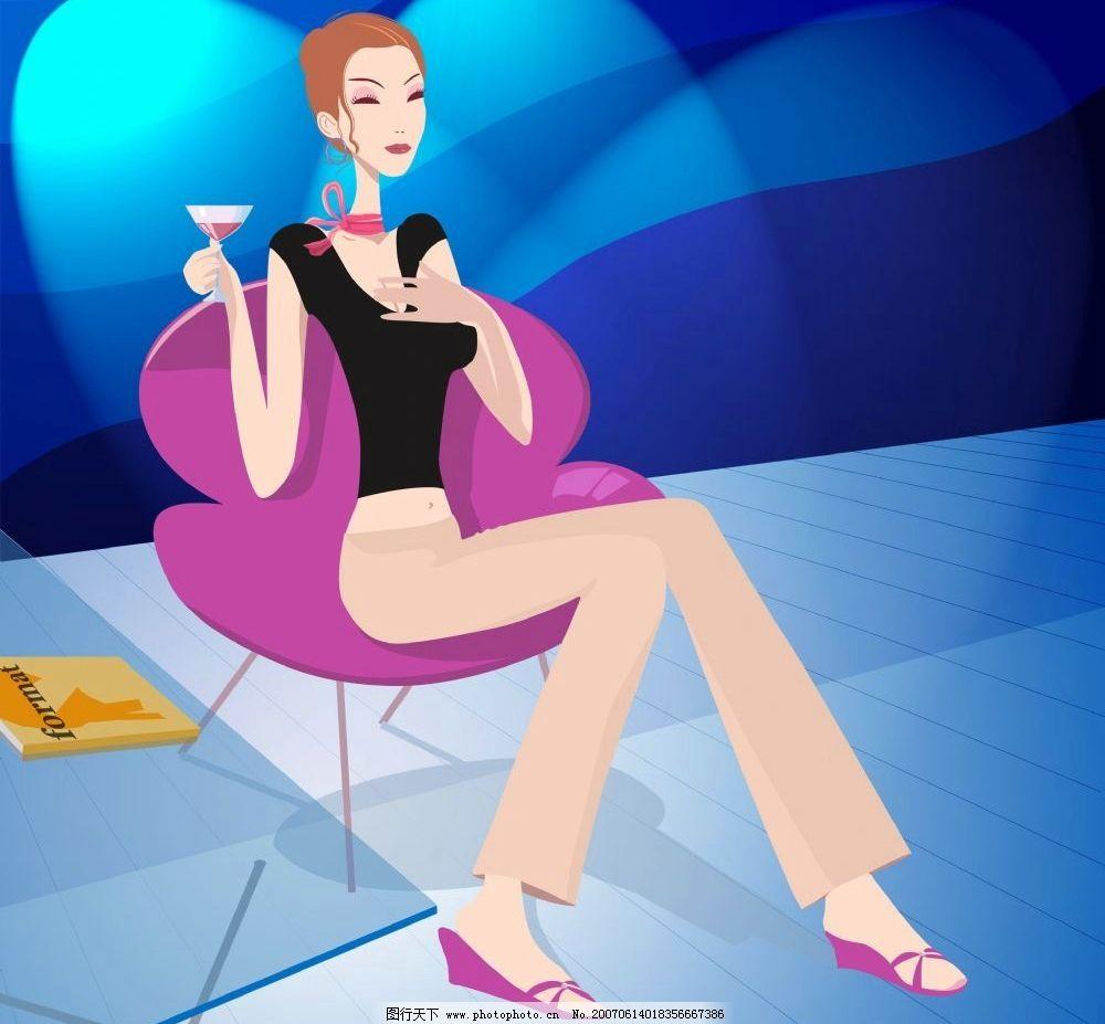 卡通少妇 韩国卡通 卡通美女 美女 手机广告 韩国卡通人物 设计图库