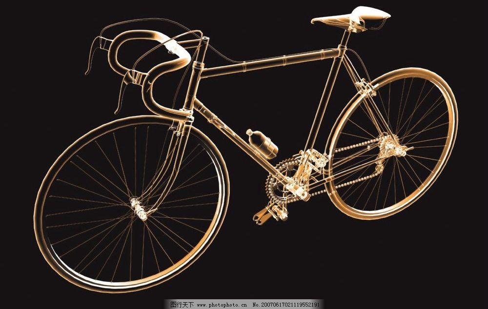 自行车透视图 脚踏车 透视素材 空间透视素材 透明背景素材 透明的