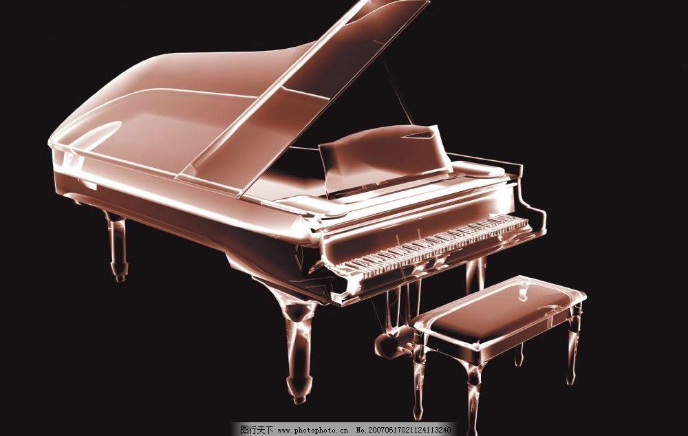 钢琴透视图 透明素材 空间透明素材 透明背景素材 透明的素材 透明