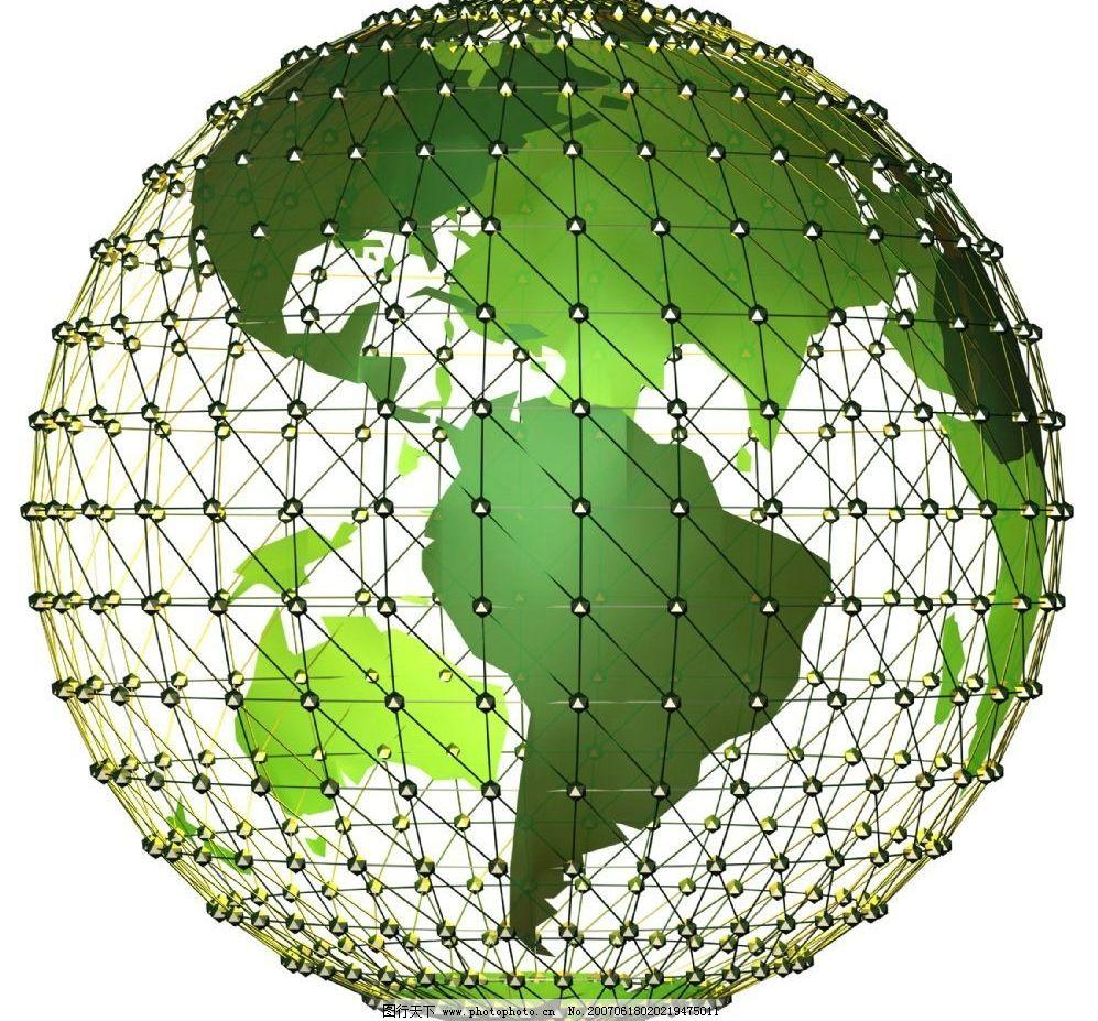 绿色地球背景图片