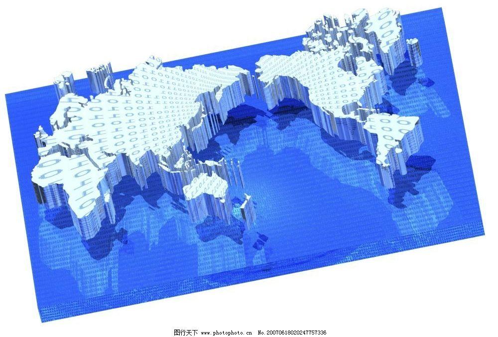 平面地球背景图片