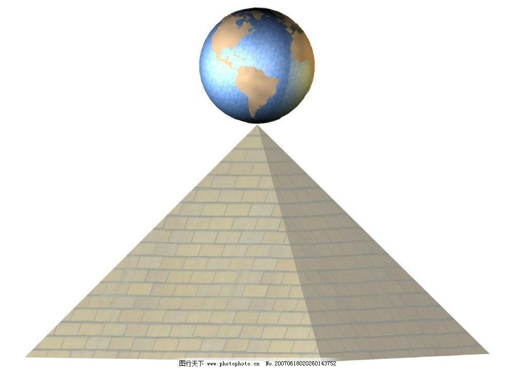 金字塔上的地球图片