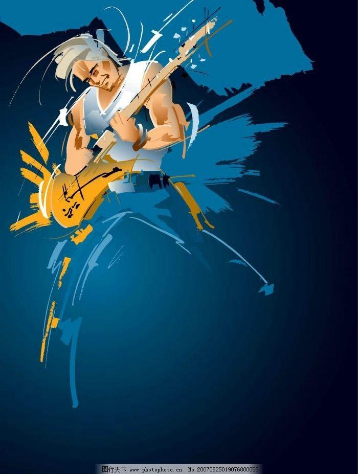 吉他手漫画 音乐人物 漫画人物 卡通人物 矢量人物卡通 其他人物
