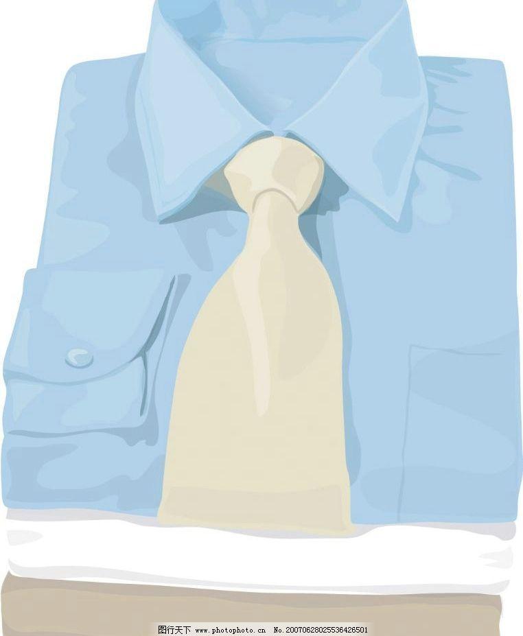 衬衫 领带 购物 物品 矢量 卡通 生活百科 生活用品 购物物品 矢量