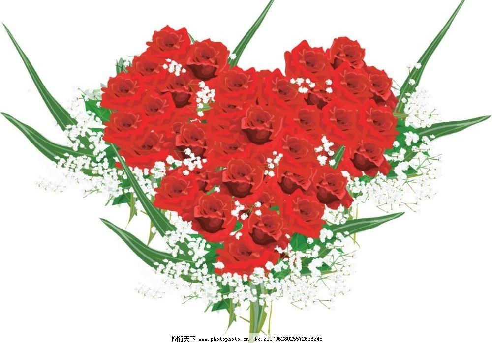 玫瑰花 鲜花 红玫瑰 购物 物品 矢量 卡通 购物物品 矢量图库