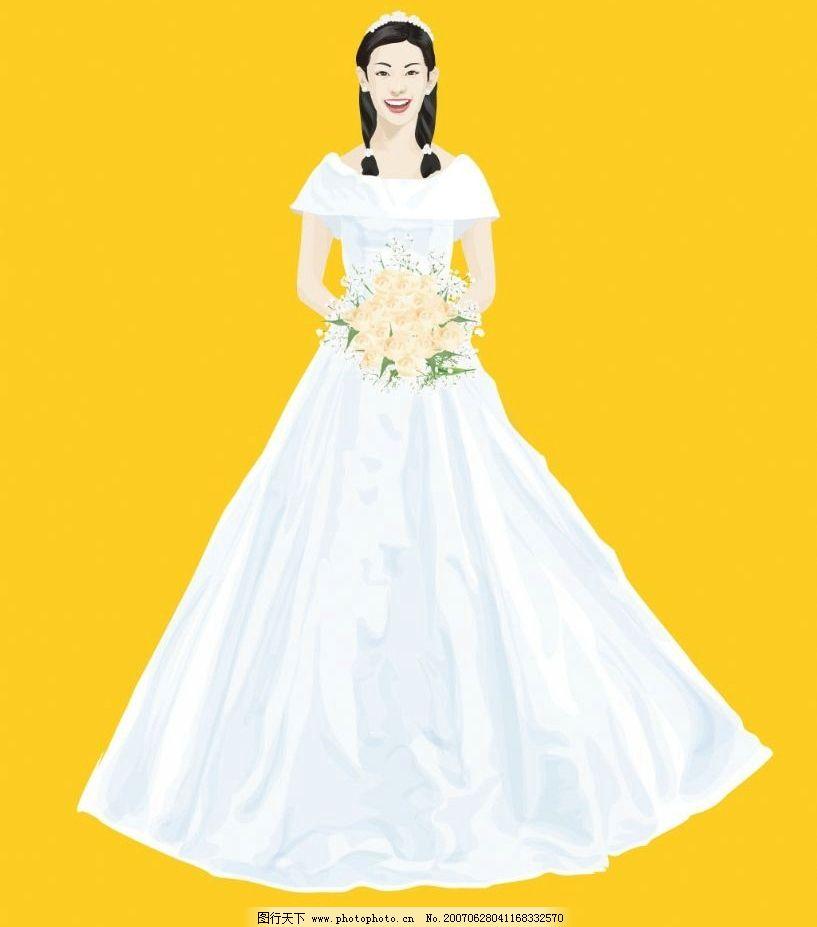 矢量新娘 女性 女人 美女 卡通人物 卡通美女 卡通 矢量 矢量人物
