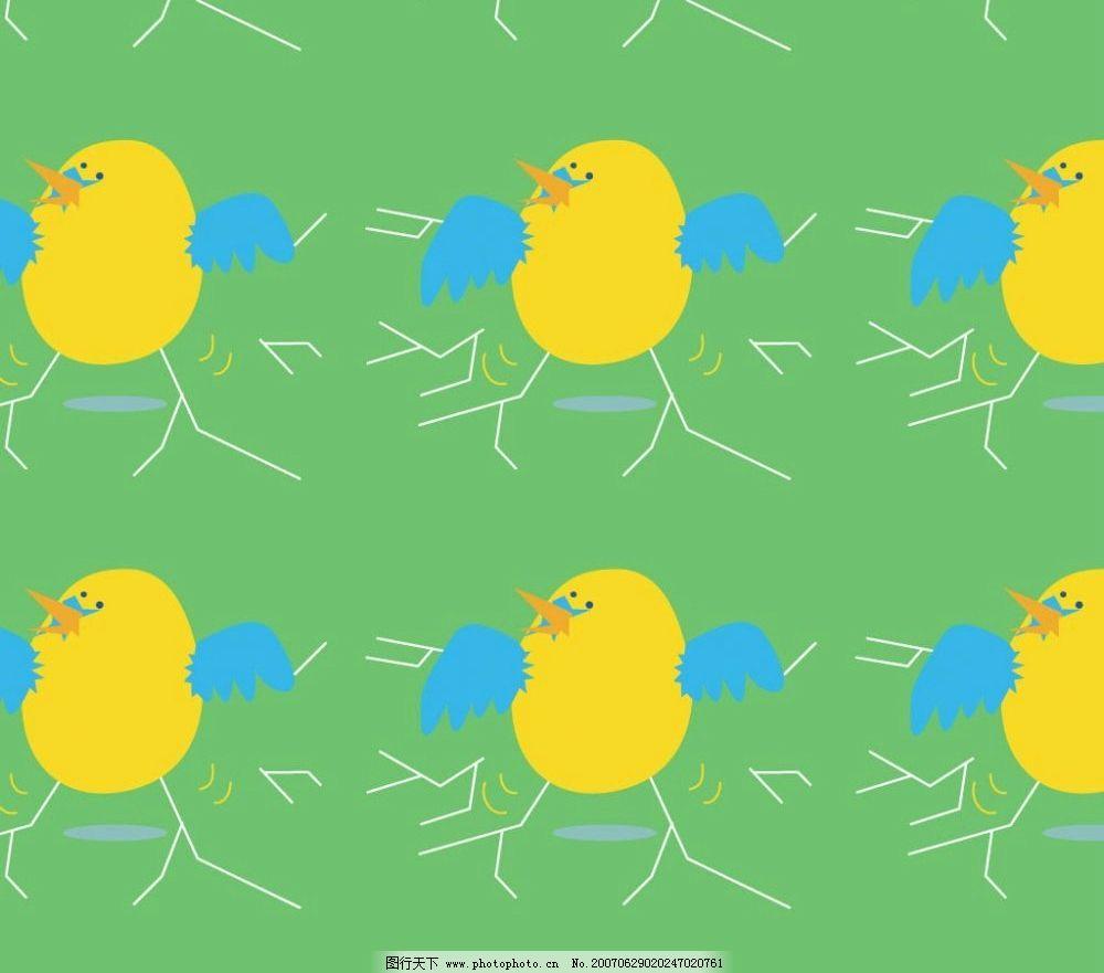 卡通小鸡图片_背景底纹_底纹边框_图行天下图库