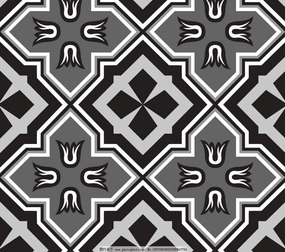 黑白花纹 底纹 底纹图案 底纹矢量 底纹素材 花纹图案 花纹矢量