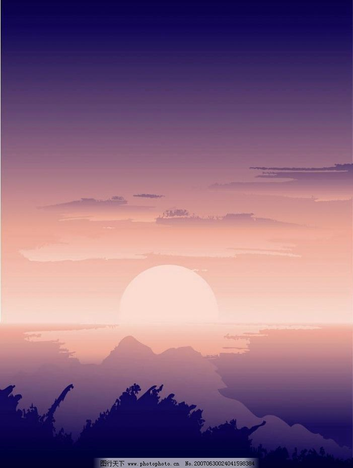 朝阳风光图片